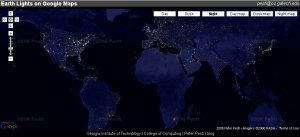 Earth Lights on Google Maps