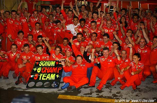 Ferrari e Schumacher campioni del mondo a Suzuka