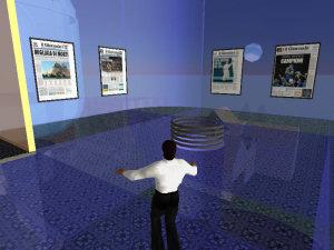 Un'immagine della sede de Il Giornale.it su Second Life