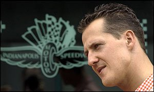 Schumacher a Indianapolis