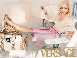 Madonna nella nuova pubblicità di Versace