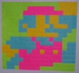 Mario rappresentato con i Post-it