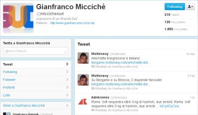 Twitter di Gianfranco Micciché