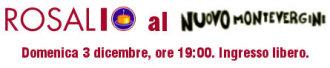 Rosalio al Nuovo Montevergini. Domenica 3 dicembre, ore 19:00. Ingresso libero.