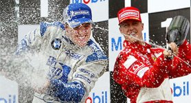 I fratelli Schumacher sul podio a Magny Cours
