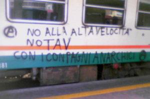 No alla alta velocità. No TAV. Con i coNpagni anarchici.