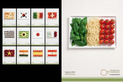 """Cibo e bandiere del """"Sidney International Food Festival"""""""