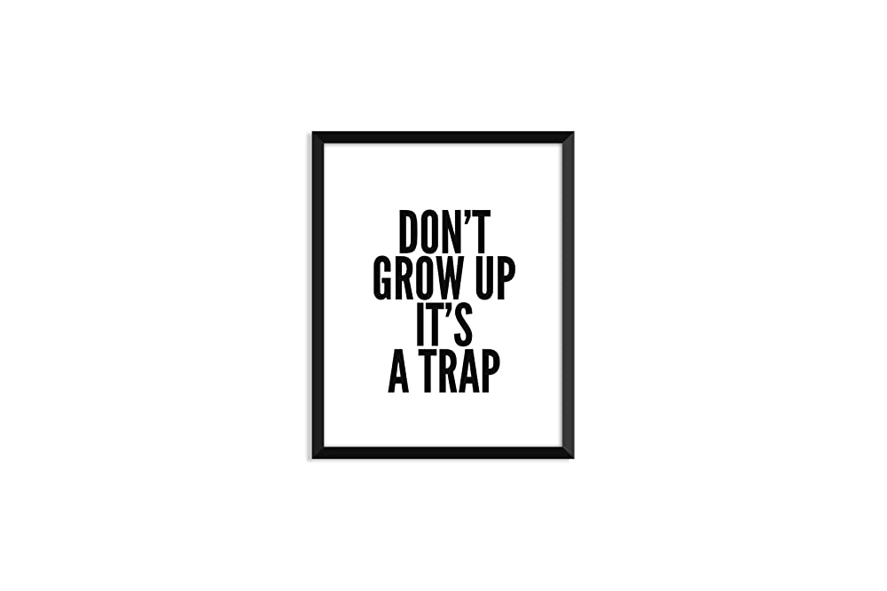 Dont' grow up, it's a trap