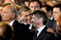 Alfonso Pecoraro Scanio ai funerali dei caduti di Nassiriya
