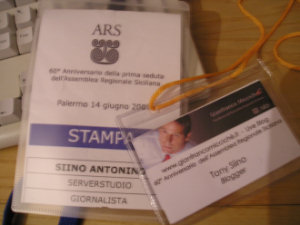 Pass per un blogger all'ARS