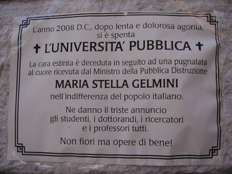 La morte dell'Università