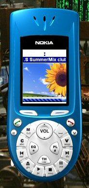 Skin di Winamp che raffigura un Nokia 3650